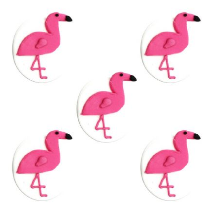 Tropical Flamingo Sugar Decorations